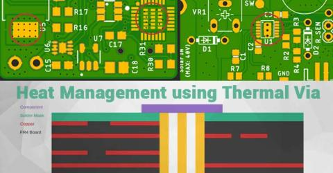 Placement of Thermal Vias for Efficient Heat Management in PCB Designs