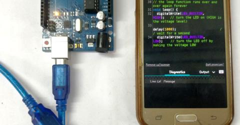 Program your Arduino with an Android device