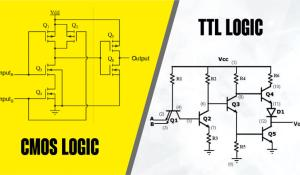 Comparison between CMOS and TTL Logic