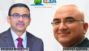 Sandeep Aurora and Krishna Moorthy from India Electronics' and Semiconductor Association