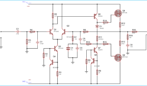 100 Watt Power Amplifier Circuit using MOSFET