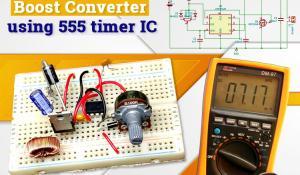555 Timer based DC DC Boost Converter