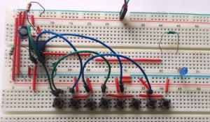 555 Timer Based Electronic Code Lock Circuit