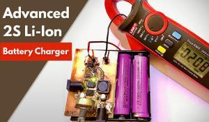 Advanced 2S Li-Ion/ Li-Po Battery Charger using MCP73844 IC