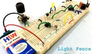Automatic Light Fence Circuit with Alarm