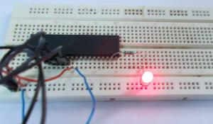 Blinking LED with ATmega32 AVR Microcontroller