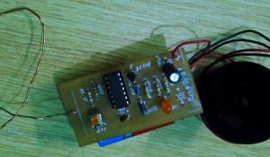 Broken Wire Detector Circuit using IC CD4069