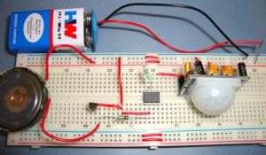 Burglar Alarm System using PIR Sensor