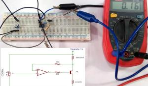 Constant Current Sink Circuit using Op-Amp