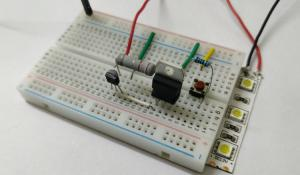 Electronic Fuse Circuit on Breadboard