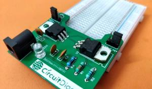 DIY Breadboard Power Supply Circuit on PCB