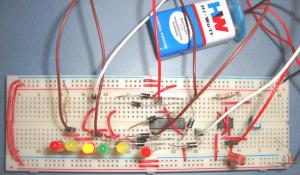 Dancing LEDs Circuit using 555 Timer IC
