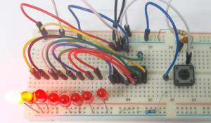 Decimal Counter Circuit using IC 4017