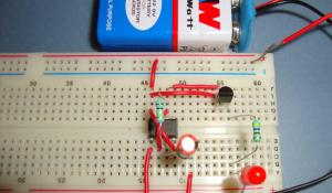 Fading LED Circuit using 555 Timer IC