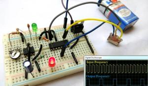 Frequency Divider Circuit using 555 Timer and CD4017