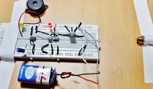 Laser Security Alarm Circuit using IC 555 and LM358
