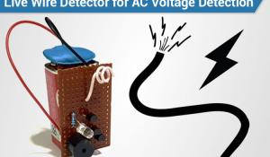 Live Wire Detector for Contactless AC Voltage Detection
