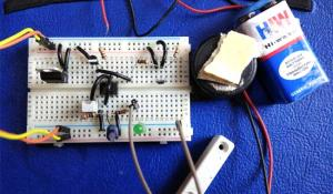 Magnetic Door Alarm Circuit using Hall sensor