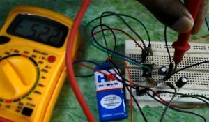 Negative Voltage Generator using IC 555