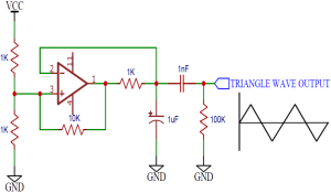 Op Amp Triangular Wave Generator