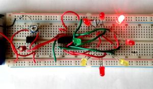 LED Roulette circuit using 555 timer IC