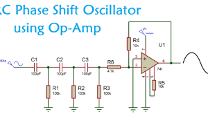RC Phase Shift Oscillator using Op-Amp