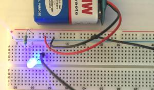 Simple LED Circuit on Breadboard
