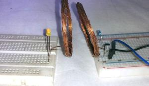 Simple Wireless Power Transmission Circuit to glow an LED