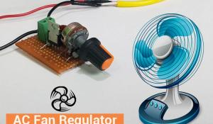 AC Fan Regulator using TRIAC and DIAC