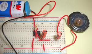 Ticking Sound Circuit using IC 555