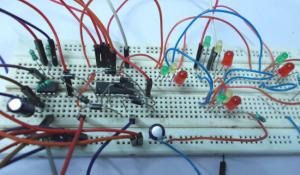 Four Way Traffic Signal Project using IC 555 Timer