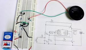 Wailing Siren Circuit using a 555 Timer IC