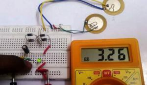 Generating Electricity using Piezoelectric Transducer Circuit