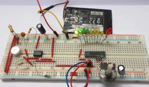 LED VU Meter using LM3914
