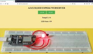AJAX based Webserver on ESP8266