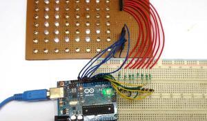 Scrolling Text Display on 8x8 LED Matrix using Arduino