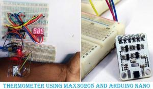 Arduino Based Digital Thermometer using MAX30205 Human Body Temperature Sensor