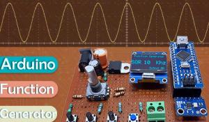 AD9833 and Arduino Based Function Generator