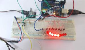 Arduino LED Chaser using Rotary Encoder