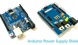 Arduino Power Supply Shield with 3.3v, 5v and 12v Output Options