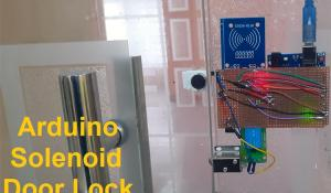 Arduino Solenoid Door Lock using RFID