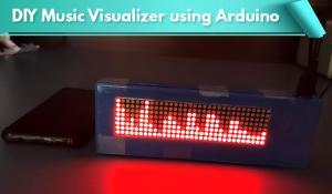 DIY Music Visualizer using Arduino and 32x8 Dot Matrix Display