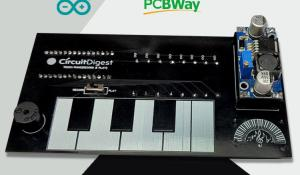 Arduino based Touch Capacitive Piano PCB