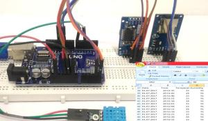 Log Temperature, Humidity and Time on SD Card and Computer using Arduino