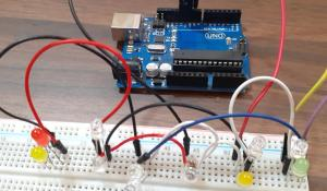 Charlieplexing Arduino- Controlling 12 LED with 4 GPIO Pins