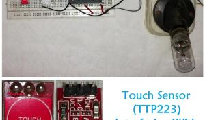 Controlling Light using Touch Sensor and 8051 Microcontroller