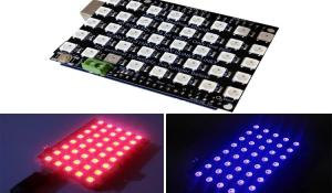Controlling WS2812B RGB LED Shield with Arduino and Blynk