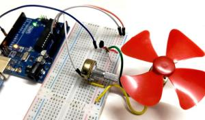 DC Motor Speed Control using Arduino and Potentiometer