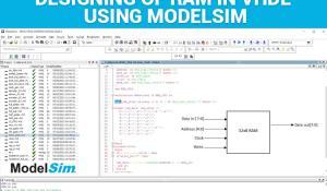 Designing of RAM in VHDL using ModelSim