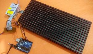 LED Display Board using P10 LED Matrix Display and Arduino